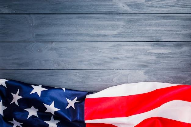 Fondo de bandera americana con copyspace