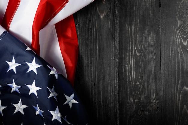Fondo de la bandera americana para el día de los caídos o el 4 de julio