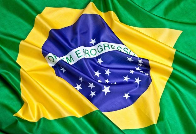 Fondo de la bandera de brasil
