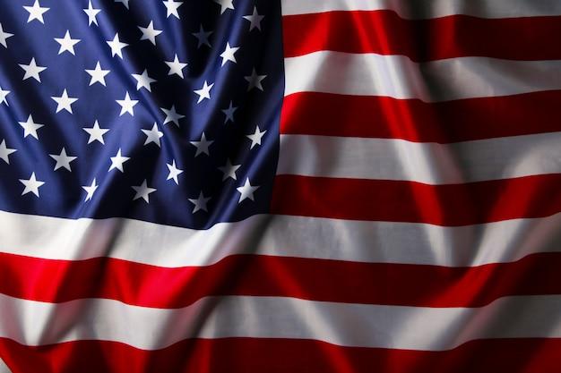 Fondo de bandera de estados unidos. día de la independencia, vista superior