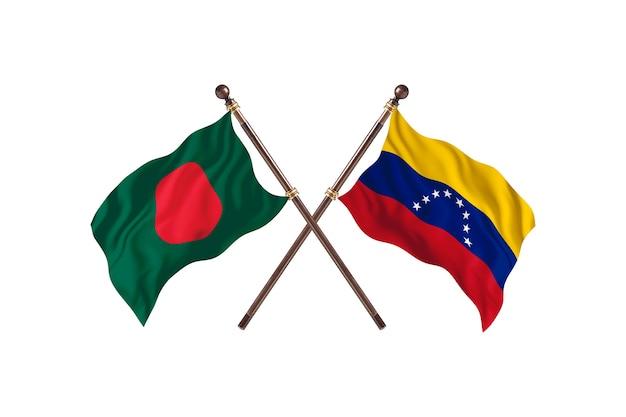 Fondo de banderas de bangladesh versus venezuela
