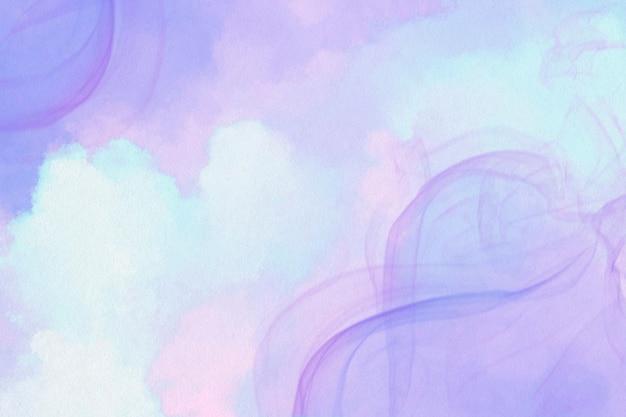 Fondo de banner de humo púrpura estético