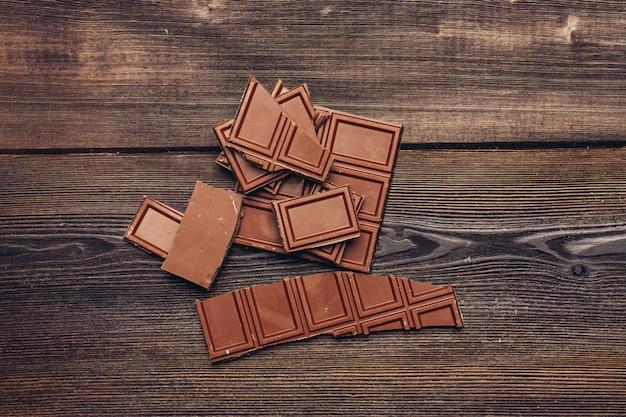 Fondo de barra de chocolate