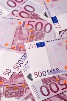 Fondo de billetes de 500 euros.