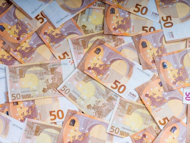 Fondo de los billetes en euros