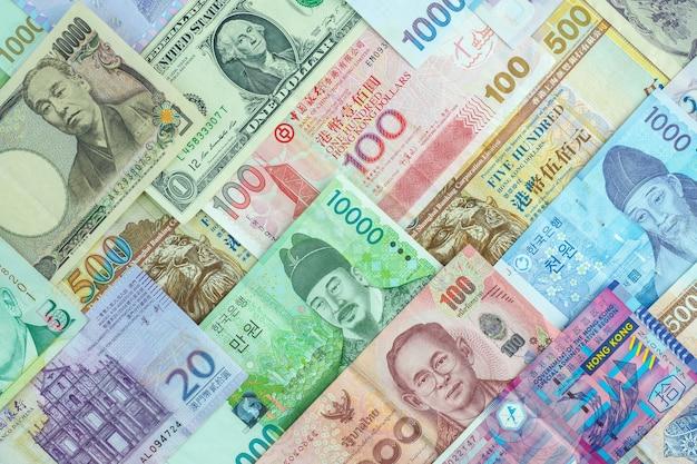 Fondo de billetes internacionales, negocios de cambio de moneda