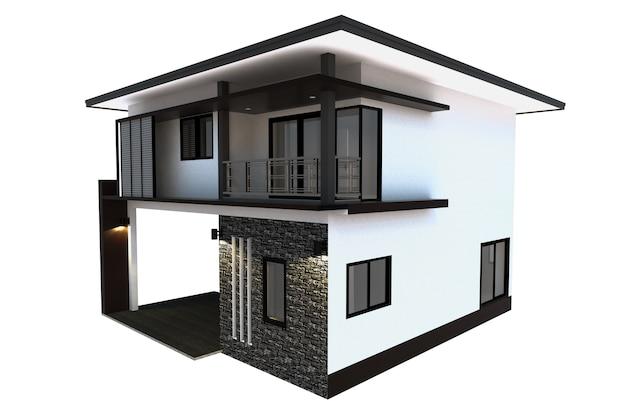 Fondo blanco aislado de la casa
