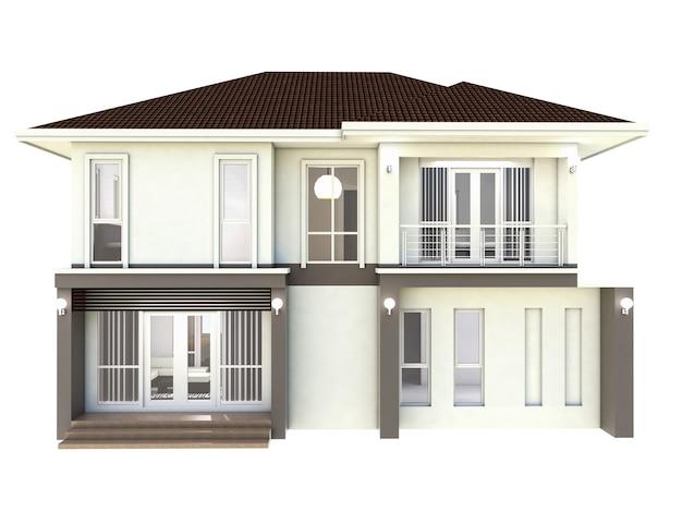 Fondo blanco aislado hogar del plan de diseño de la ilustración 3d