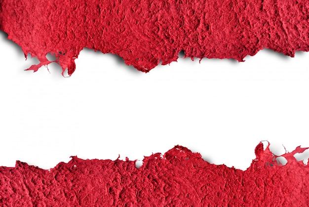Fondo blanco aislado rasgado plantilla de papel de textura