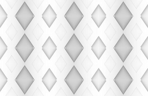 Fondo blanco del arte del papel cuadrado de la rejilla.