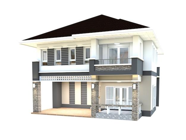 Fondo blanco de diseño de la casa