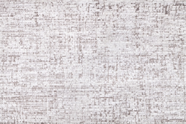 Fondo blanco esponjoso de paño suave y velloso. textura de primer plano textil