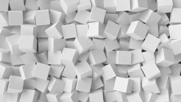 Fondo blanco del extracto del cubo