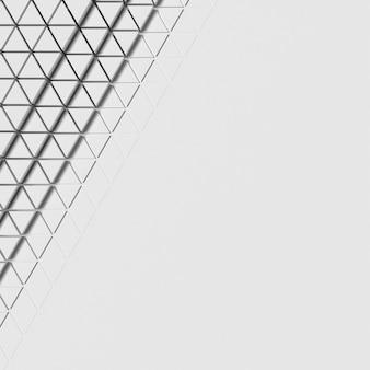 Fondo blanco geométrico con superficie de espacio de copia