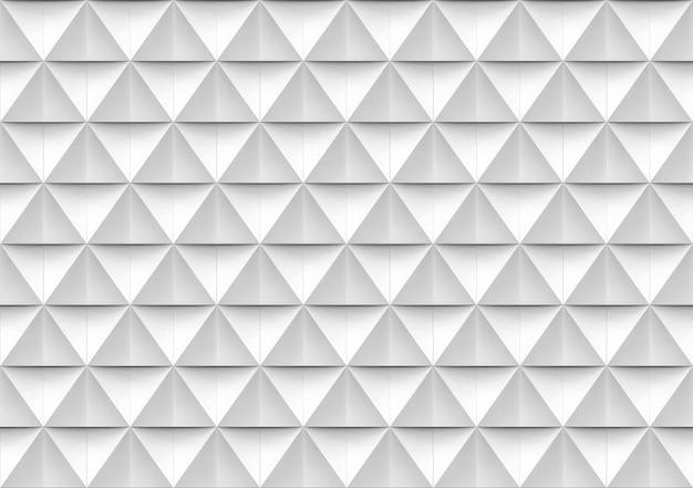 Fondo blanco y gris moderno inconsútil de la pared del modelo de la forma del polígono del triángulo.