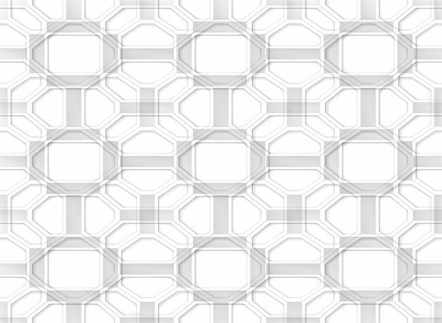 Fondo blanco inconsútil inconsútil de la pared del modelo de rejilla de la forma geométrica al azar.