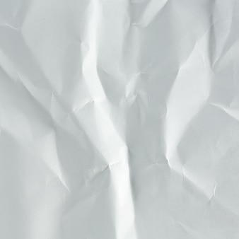 Fondo blanco de papel arrugado de cerca