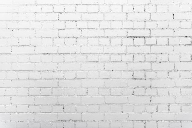 Fondo blanco de la pared de ladrillo