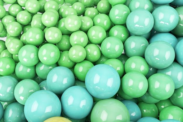 Fondo con bolas verdes