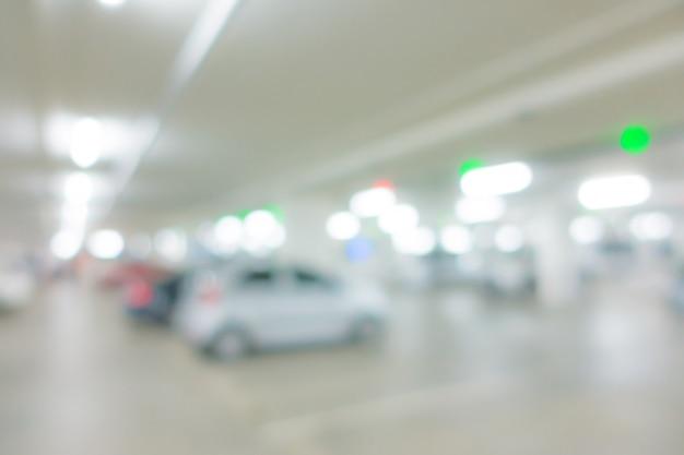 Fondo borroso abstracto del aparcamiento