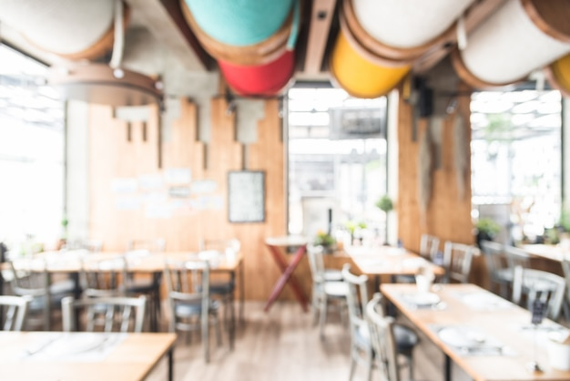 Fondo borroso abstracto del interior del restaurante