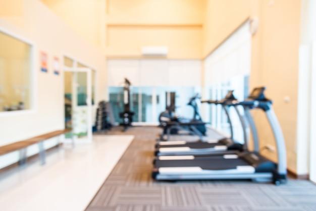 Fondo borroso abstracto de la sala de fitness gimnasio
