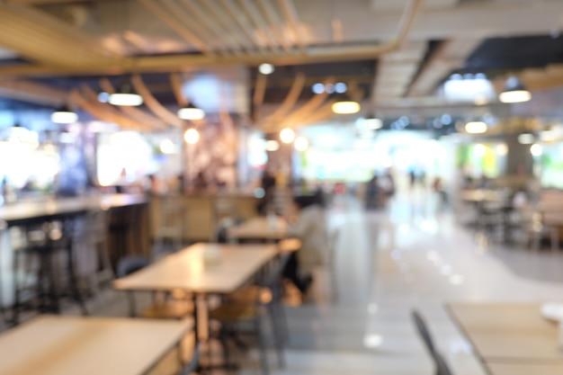 Fondo borroso de la cafetería de restaurantes.