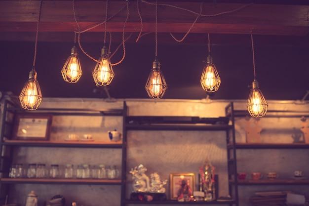 Fondo borroso hecho con vintage tones, coffee shop desenfoque de fondo con bokeh