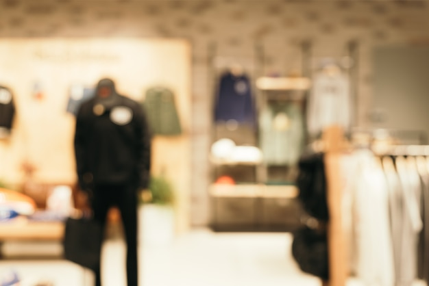 Fondo borroso - tienda de centro comercial desenfoque de fondo con bokeh. imagen filtrada vintage.