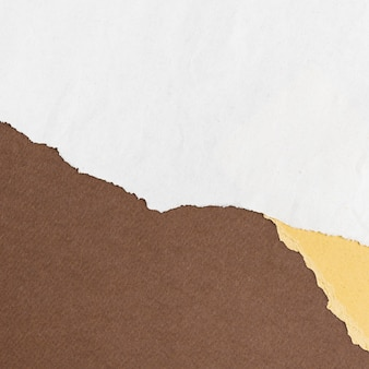 Fondo de bricolaje de marco de borde de papel blanco rasgado