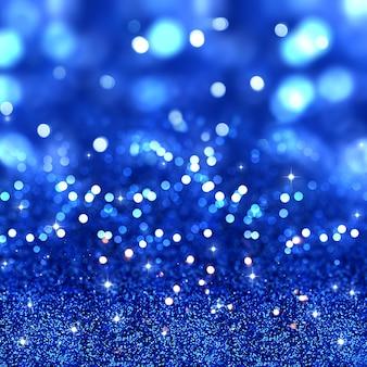 Fondo brillante de navidad con estrellas y luces bokeh