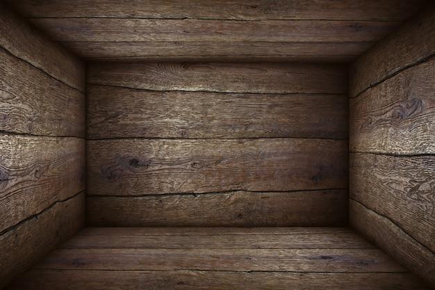Fondo de caja de madera vieja