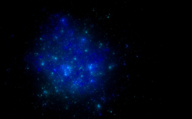 Fondo de campo de estrella azul. galaxia espacial estrellada