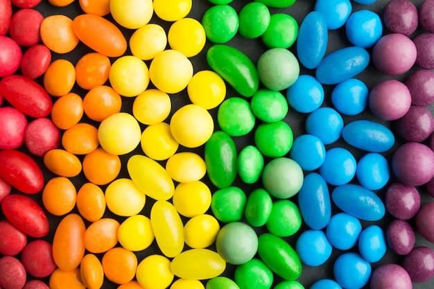 Fondo de caramelos coloridos del arco iris