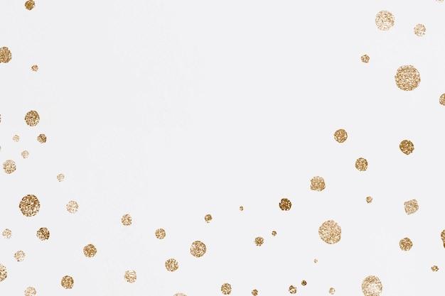 Fondo de celebración de puntos dorados relucientes
