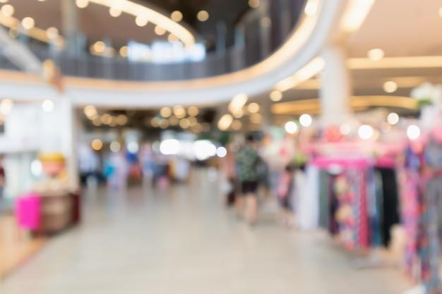 Fondo de centro comercial borroso abstracto