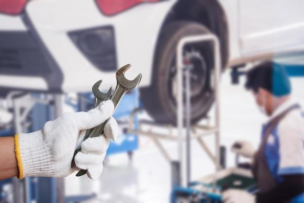 Fondo de centro de servicio de reparación de automóviles