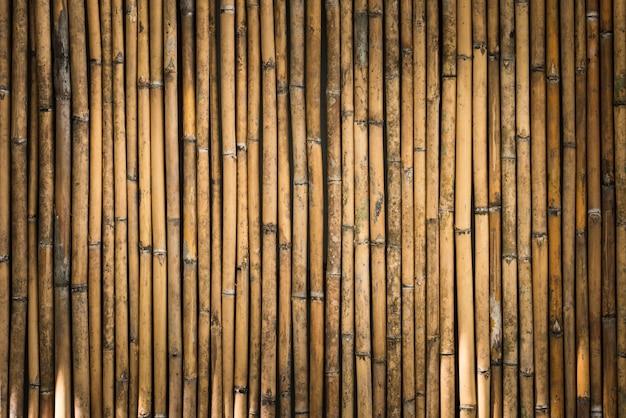 Fondo de la cerca de bambú
