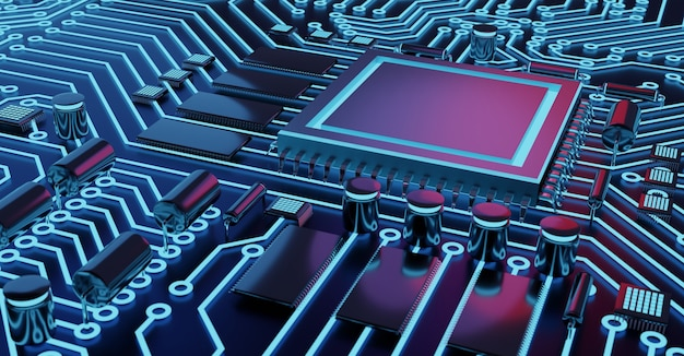 Fondo de chip de computadora y cpu