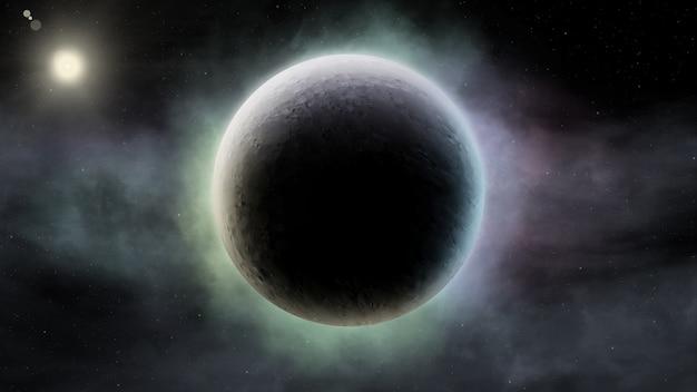 Fondo científico abstracto de la escena del universo en el espacio exterior