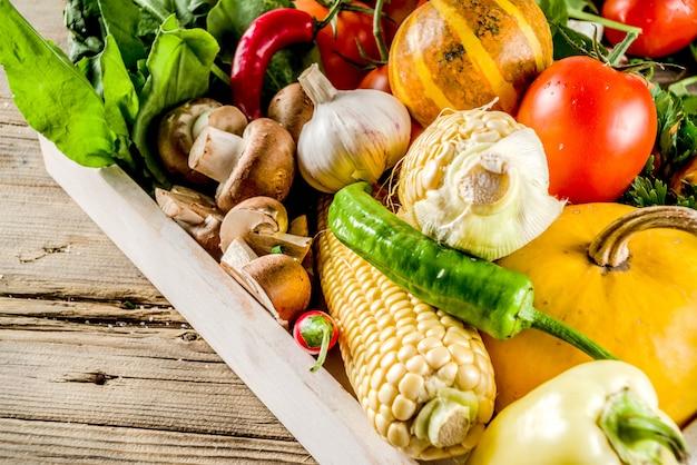 Fondo de cocina comida otoño