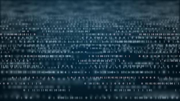 Fondo de código binario de tecnología abstracta