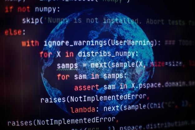 Fondo del código de programación