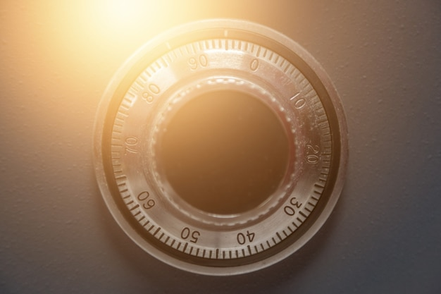 Fondo de código de seguridad seguro de mecanismo de acero