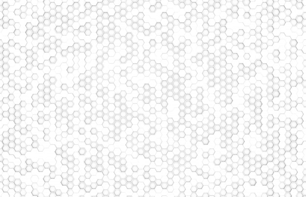 Fondo de color blanco hexagonal vista superior