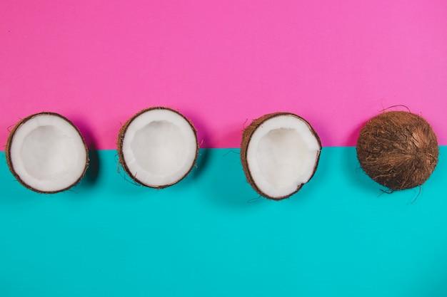 Fondo de color con cocos