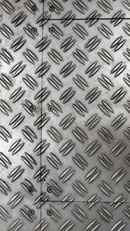 Fondo de color plata piso de chapa antideslizante