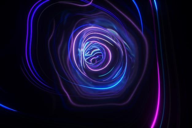 Fondo colorido abstracto del túnel futurista