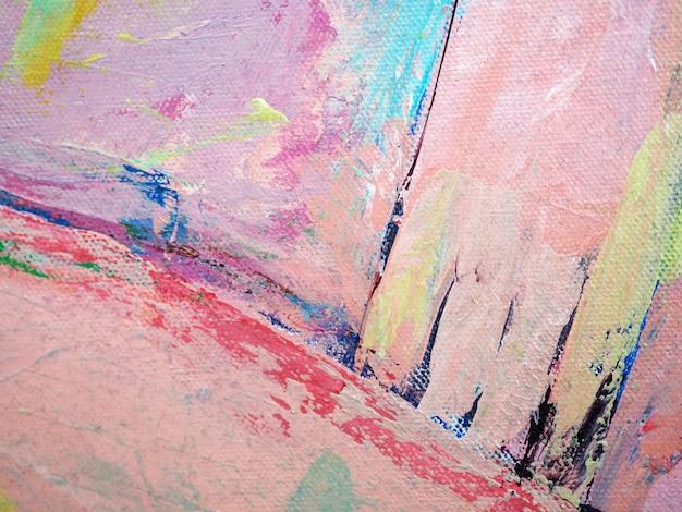Fondo colorido del extracto de la pintura de aceite dulce del cepillo de colores.