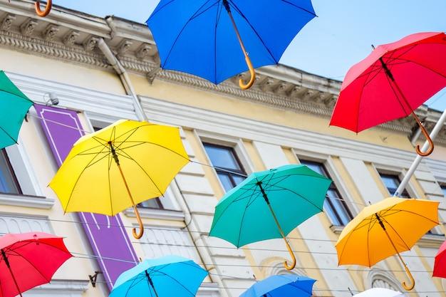 Fondo colorido paraguas,